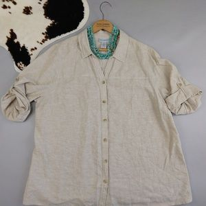 Catherines 1X 18/20W button down linen top